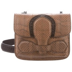 Bottega Veneta NEW Snakeskin Buckle Small Party Crossbody Shoulder Flap Bag
