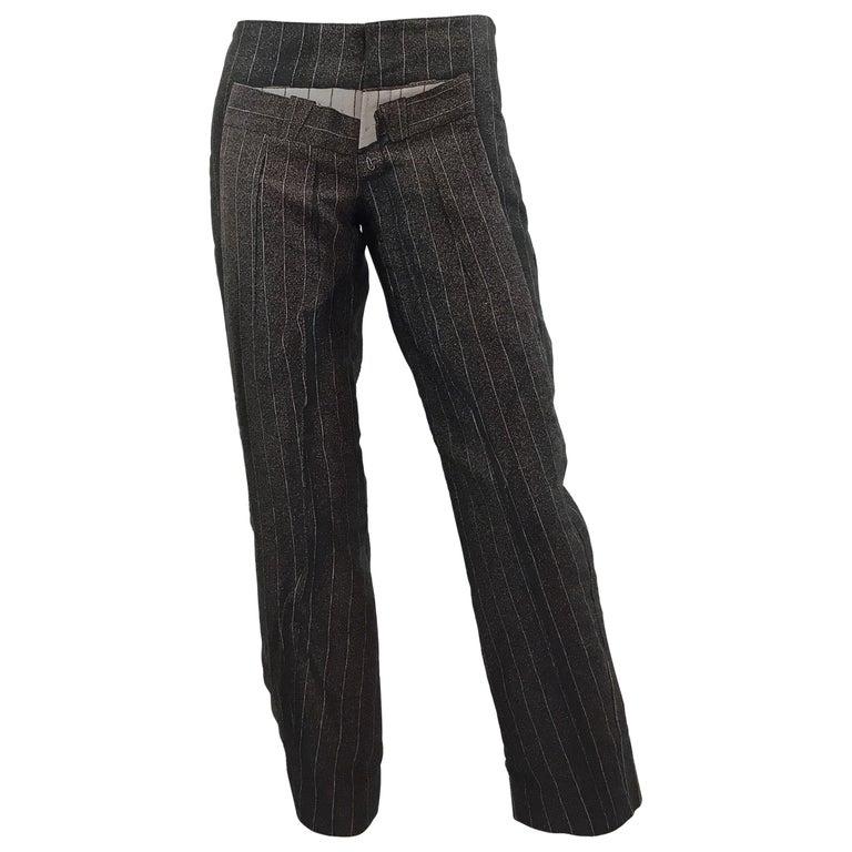 Jean Paul Gaultier Pinstriped Pants on Pants For Sale