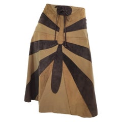 Dolce & Gabbana Suede and Corduroy Butterfly Skirt
