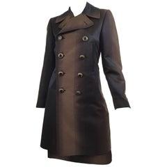 Jean Paul Gaultier Brown Ombré Coat and Skirt