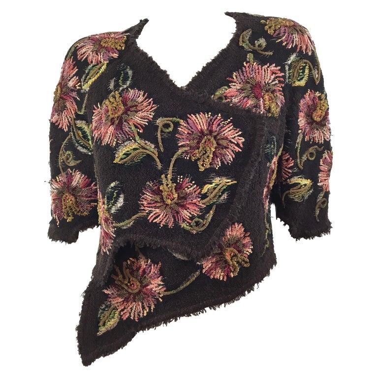 Chanel Lesage Couture 1940's RARE Bolero Jacket For Sale