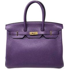 Hermes Purple Ultraviolet Birkin 35