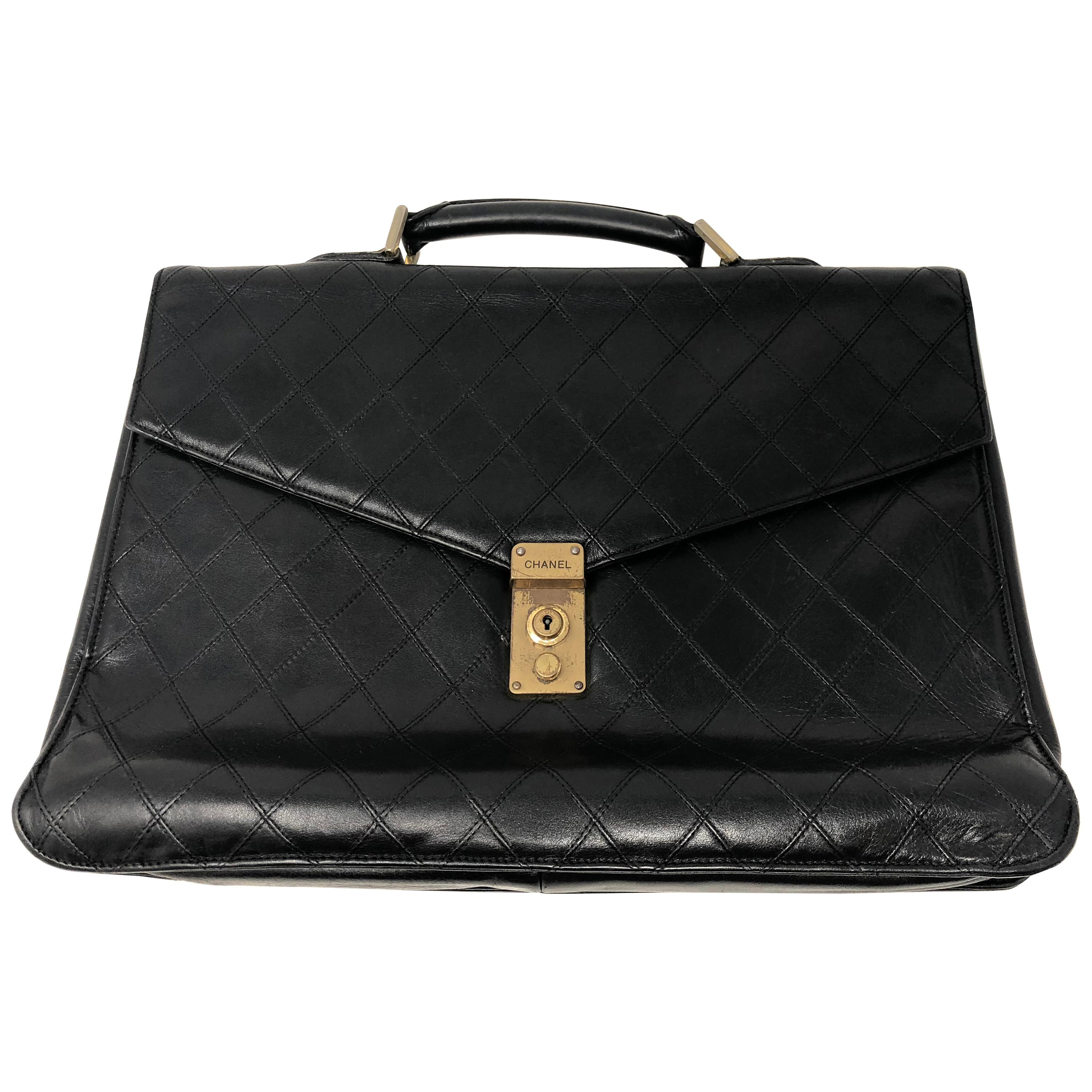 Chanel Back Leather Top Handle Men's Women'