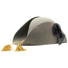 Vivienne Westwood Grey Pirate Hat, AW 1981 reissue, Size US M