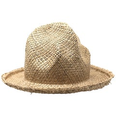 Vivienne Westwood Straw Mountain Hat, AW1983 Reissue, Size OS