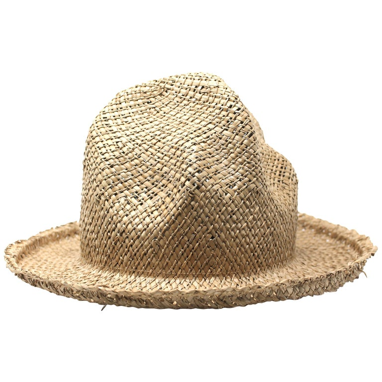 Vivienne Westwood Straw Mountain Hat, AW1983 Reissue, Size OS For Sale