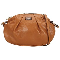 Chloe Brown Leather Crossbody Bag