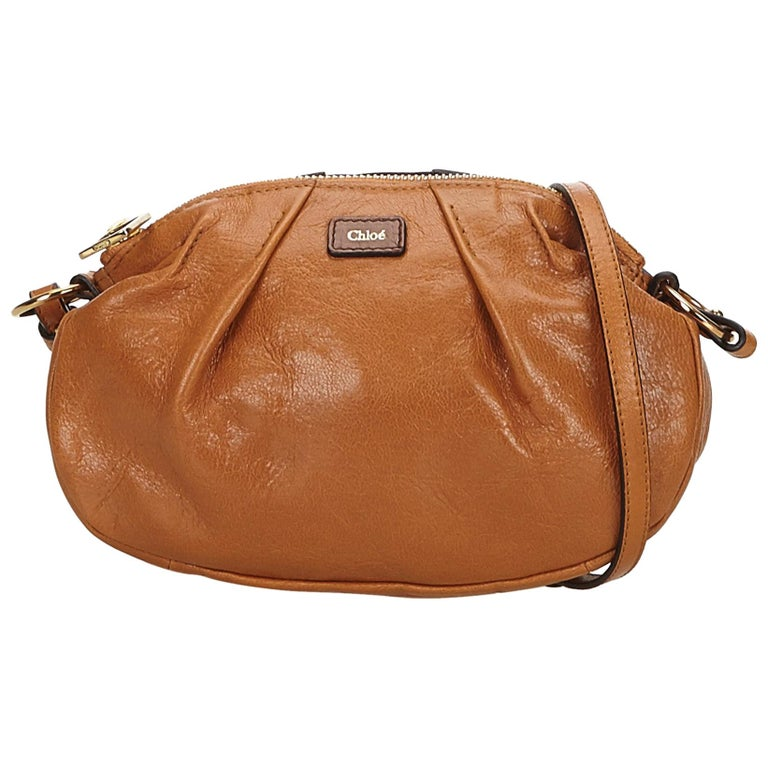 Chloe Brown Leather Crossbody Bag