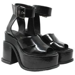Vivienne Westwood Gold Label Black Leather Clompers Size US 11