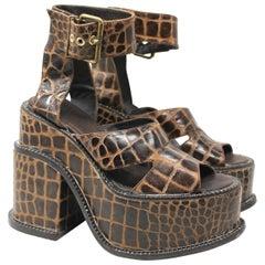 Vivienne Westwood Gold Label Moc-Croc Clompers Size US 9