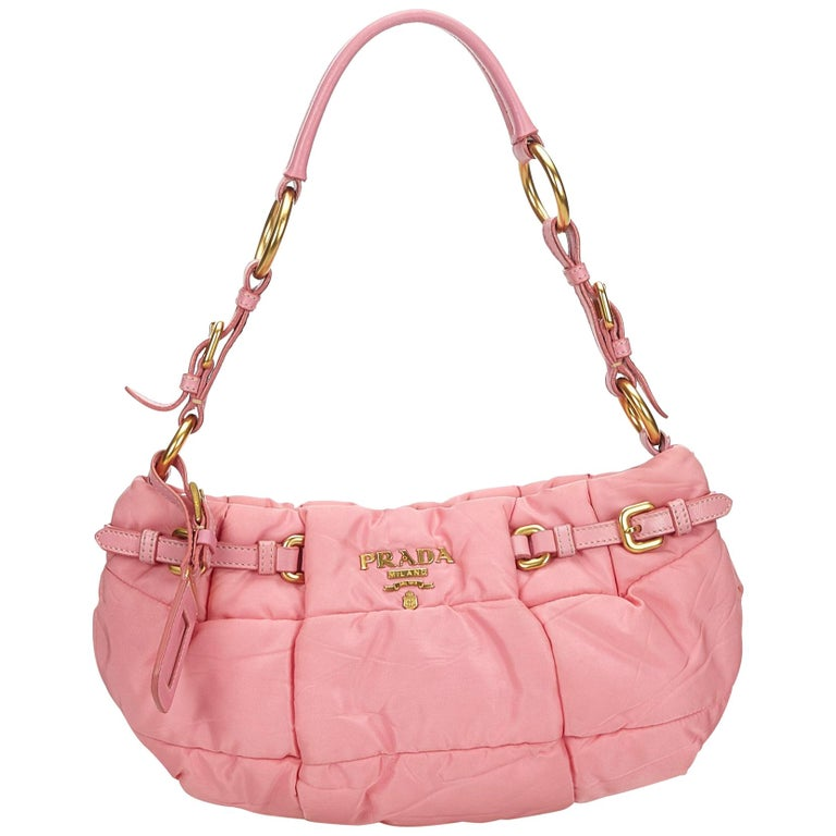 53a1debf0d02 Prada Pink Quilted Nylon Baguette at 1stdibs