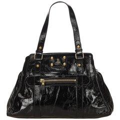 Fendi Black Patent Leather de Jour Tote