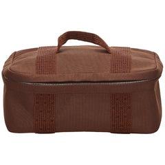 Hermes Brown x Dark brown Herline Vanity Bag