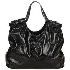 YSL Black Patent Leather Belle de Jour Tote