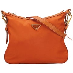 Prada Orange Nylon Crossbody Bag