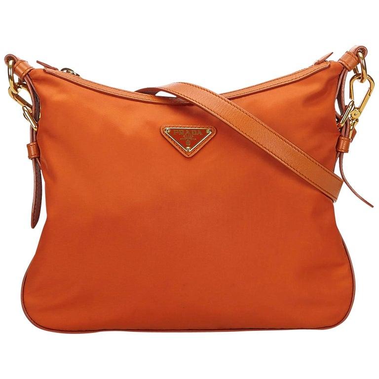 368c0448cf9 Prada Orange Nylon Crossbody Bag at 1stdibs