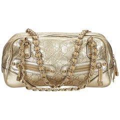 Gucci Gold Guccissima Princy Shoulder Bag