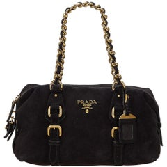 Prada Black Suede Shoulder Bag