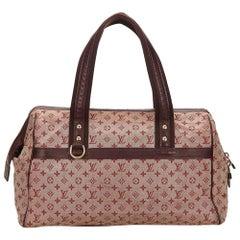 Louis Vuitton Red x Bordeaux x Brown Mini Lin Josephine GM