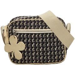 Chanel Black x Brown x Beige Clover Canvas Crossbody Bag