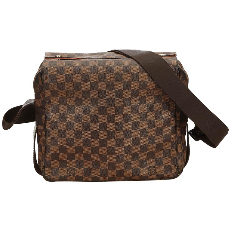 Louis Vuitton Brown Damier Ebene Naviglio For Sale