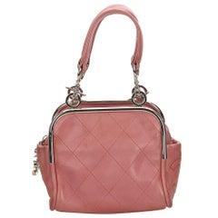 Chanel Pink Wild Stitch Lambskin Handbag