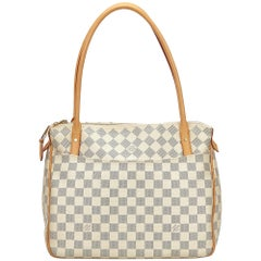 Louis Vuitton White x Blue Damier Azur Figheri PM