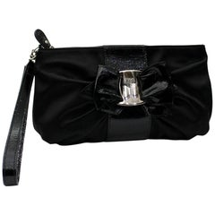 Ferragamo Black Clutch Bag