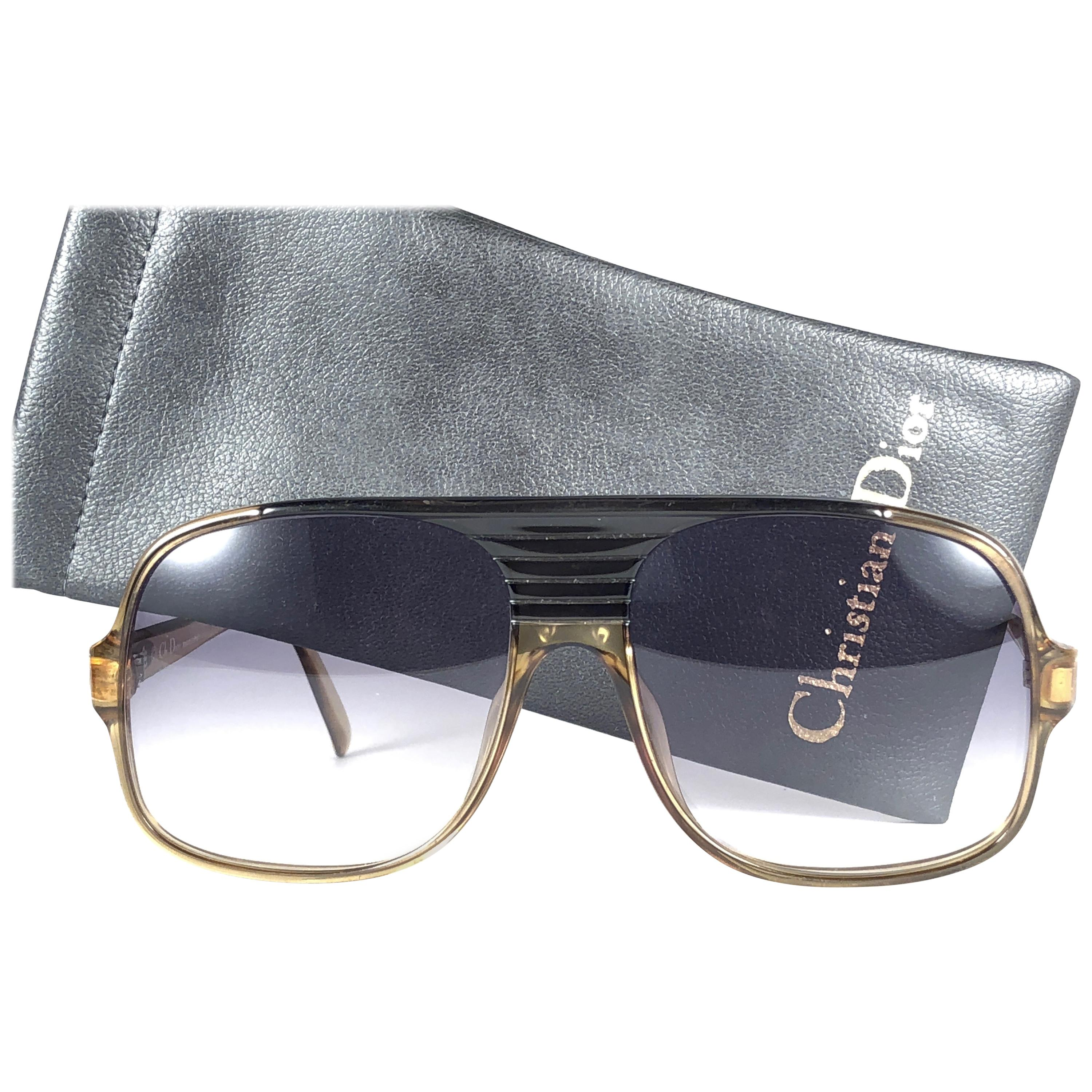 8bdb26999a6 New Vintage Christian Dior Monsieur 2059 11 Optyl Blue Gradient 1970  Sunglasses For Sale at 1stdibs
