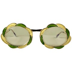 Ultra Rare 1960 Christian Dior Enamelled Collector Item Sunglasses