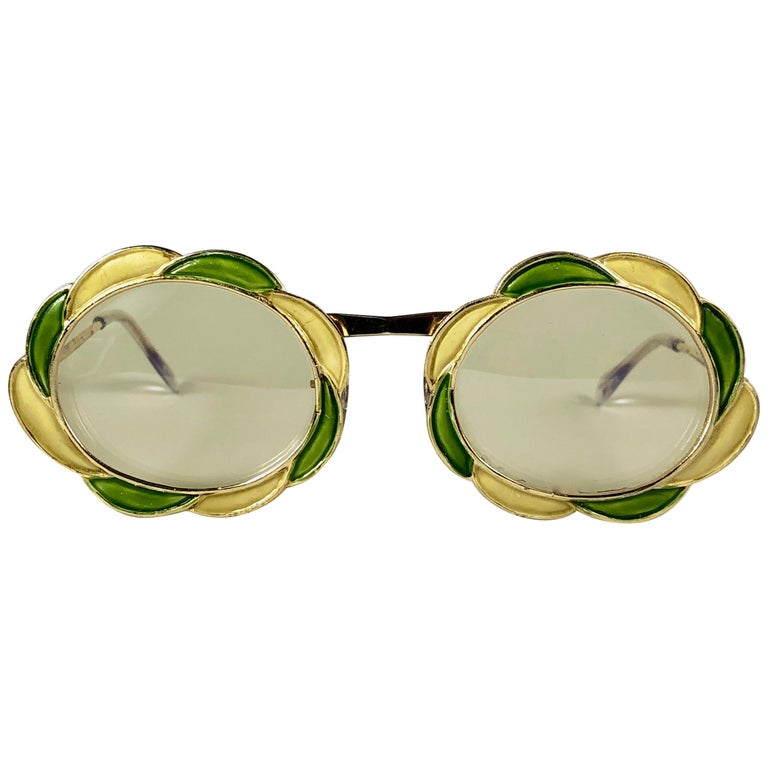Ultra Rare 1960 Christian Dior Enamelled Collector Item Sunglasses For Sale