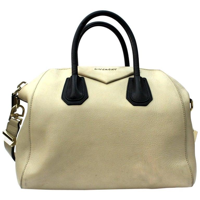 3c496015fc Givenchy Medium Antigona Beige Leather Bag at 1stdibs