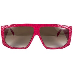 Vintage Helena Rubinstein Candy Red Quilted Sunglasses France