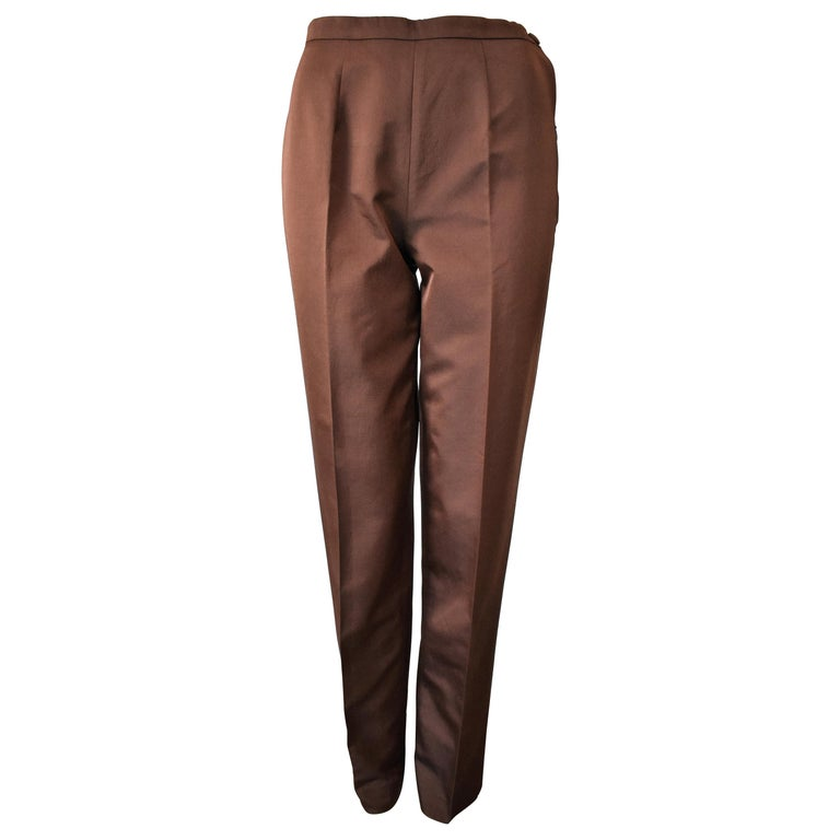 Alberta Ferretti Silk / Wool Blend Pants Like New
