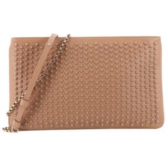 Christian Louboutin Loubiposh Clutch Spiked Leather