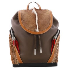 Christian Louboutin Explorafunk Backpack Spiked Leather and Fur