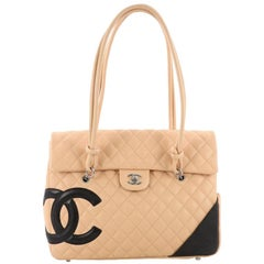 Chanel Cambon Flap Tote Quilted Leather Large