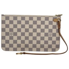 Louis Vuitton Damier Azur Neverfull GM Pouch Only