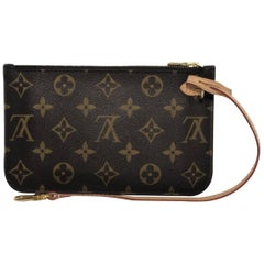 Louis Vuitton Monogram Neverfull MM Pouch Only Wristlet Handbag