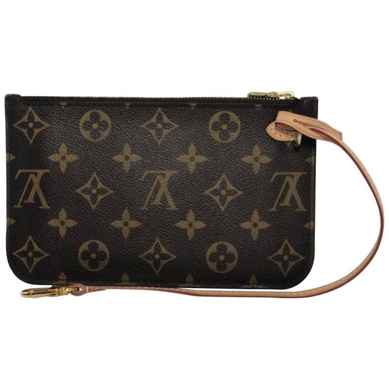 Louis Vuitton Monogram Neverfull MM Pouch Only Wristlet Handbag