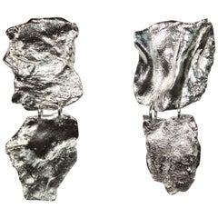 Ambre & Louise Fragment Silver Clip Earrings