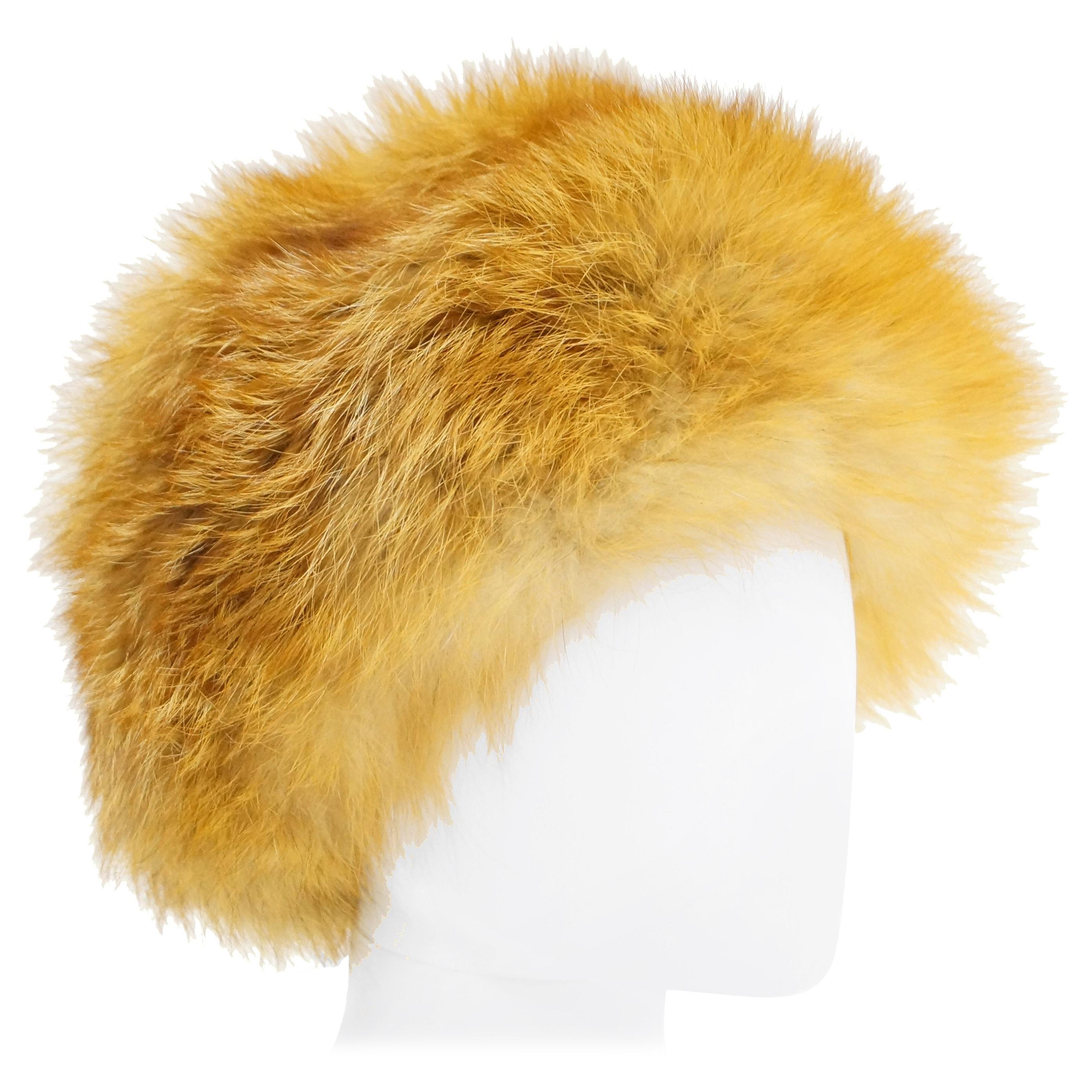 1960s Vincent & Bill Gold Fox Fur Hat