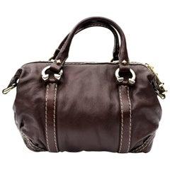 Gucci Mahogany  Leather Bag