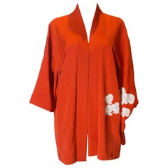 Vintage Short Kimono, Burnt Orange Colour