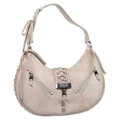 CHRISTIAN DIOR Bag in Beige Suede Leather