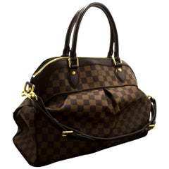 Louis Vuitton Trevi GM Damier Ebene Shoulder Bag Strap Canvas