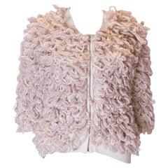 Vintage Wool Mix Zip Front Jacket