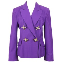 A/W 1991 Moschino Cheap & Chic Purple Wool Faucet Handle Jacket