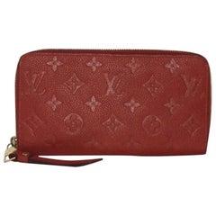 Louis Vuitton Empreinte Sarah Wallet in Red