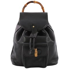 Gucci Vintage Bamboo Backpack Leather Mini